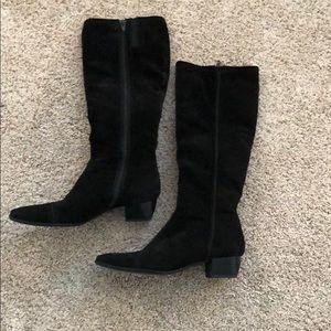 Sesto Meucci black suede boots